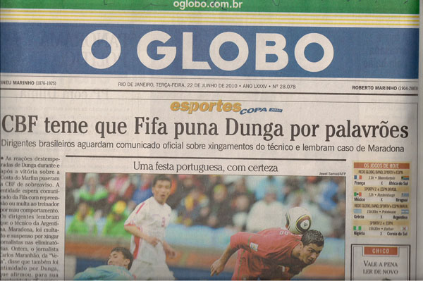 da9c2df0d8 O Globo omite bastidores ao pintar Dunga como um perigo para a seleção -  Viomundo