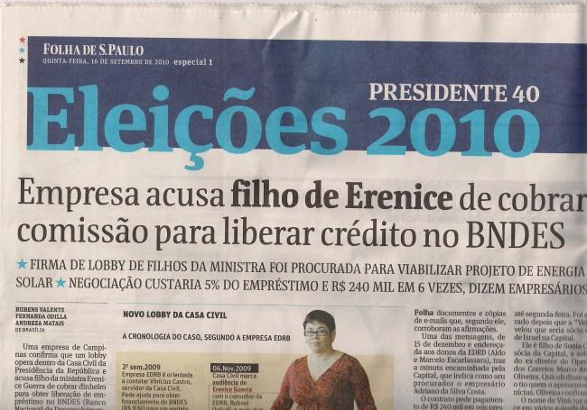 """5060195039600 Nenhuma prova disso é apresentada, é a palavra do """"consultor"""" — aqui, uma  clara tentativa de comprometer a campanha de Dilma com uma acusação não  provada."""