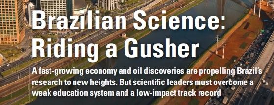 Ciência brasileira é tema da principal matéria da prestigiosa Science