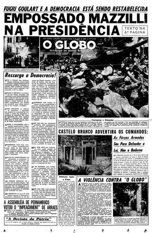 Globo: Declaração de princípios, versão 1964