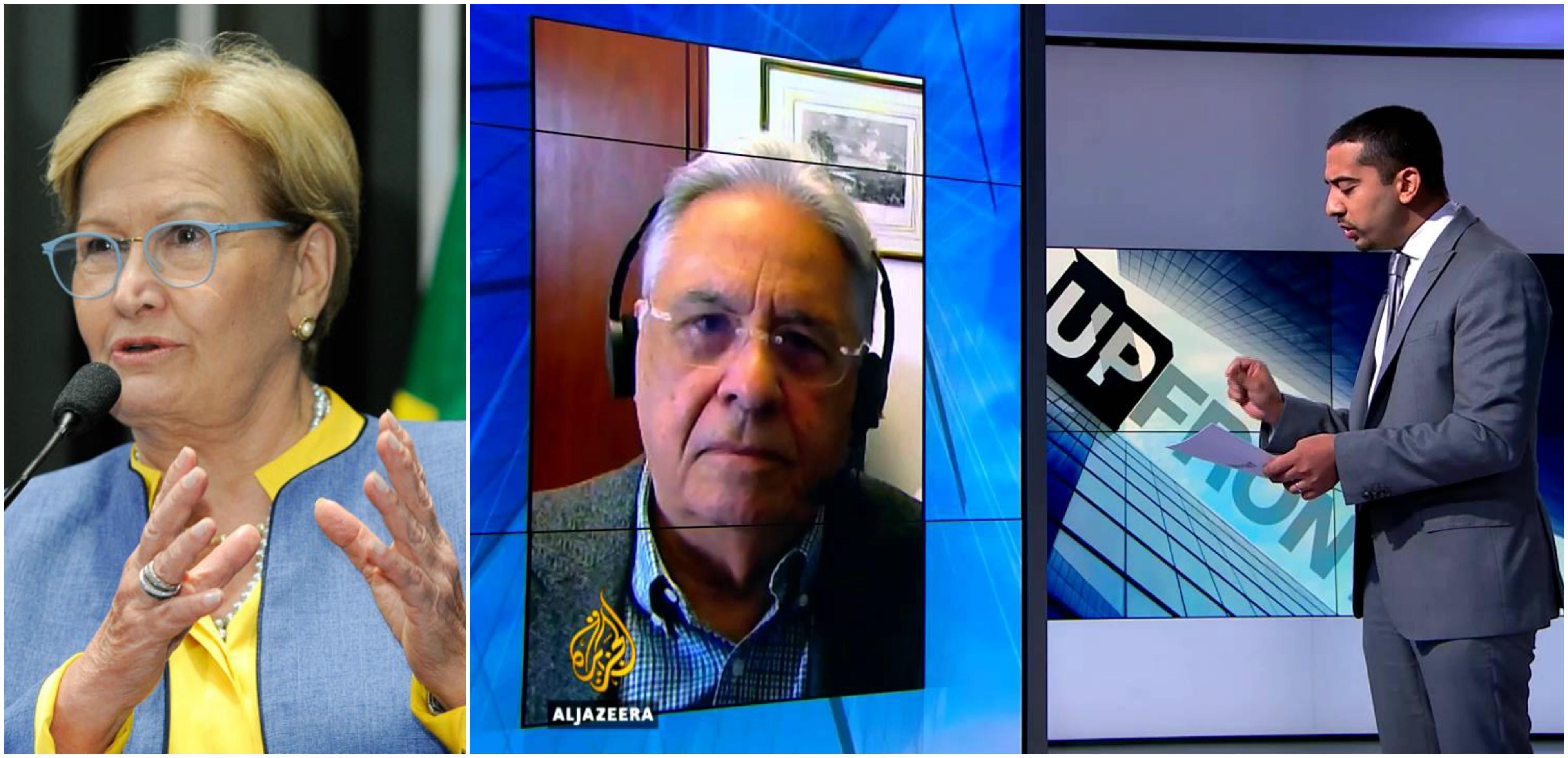 """João Maneco: Ana Amélia se """"esqueceu"""" que FHC foi moído por jornalista da Al Jazeera durante entrevista"""