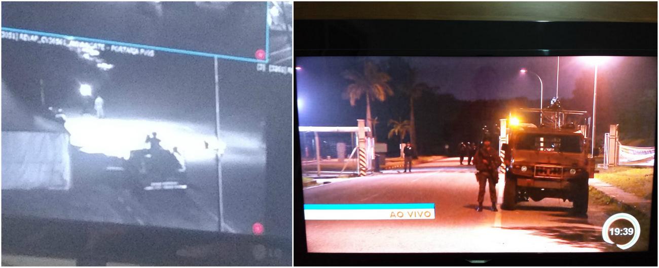 """3398201c067 Sindipetro denuncia  """"Está sendo montada dentro da refinaria uma base do  Exército com cerca"""