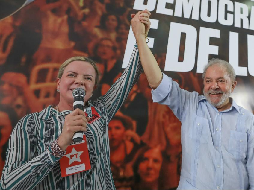 """Lula a Gleisi: """"Pela primeira vez o STF agiu diante da indústria das delações, desmoralizando o discurso e a prática da Lava Jato"""""""