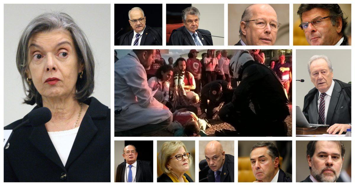A Cármen Lúcia, Fachin, Fux, Mello, Toffoli, Marco Aurélio e Moraes: Vão esperar algum grevista de fome morrer na frente do STF?