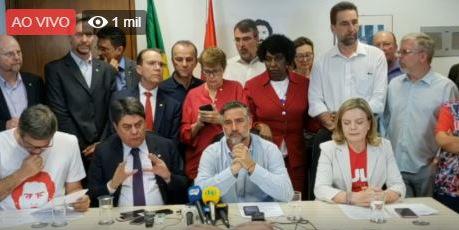 Petistas anunciam: Dodge, Jungmann, Flores e Galloro terão que explicar a desobediência à ordem de soltura de Lula