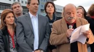 """Lula, ao lançar Haddad: """"Nossas ideias vão chegar a todo mundo pela voz do povo, mais alta e mais forte que as mentiras da Globo""""; veja vídeo"""