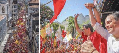 """Comício no Recife foi divisor de águas na campanha de Haddad; eleitores de Bolsonaro respondem prometendo dar """"ração na tigela"""" a feministas; veja os vídeos"""