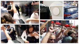 Lulaço na frente da Globo, em Brasília: Polícia Militar usa spray de gás pimenta contra manifestantes; veja vídeos