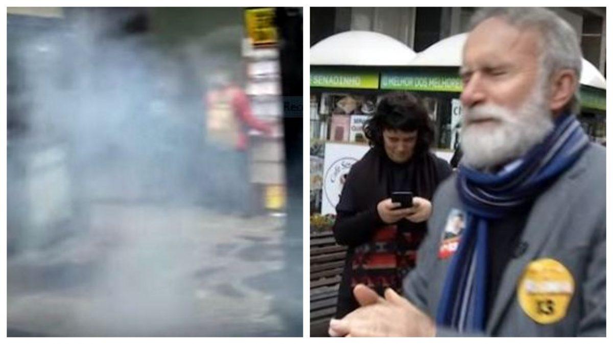 Desconhecido atira bomba em candidato do PT no centro de Curitiba; veja o vídeo