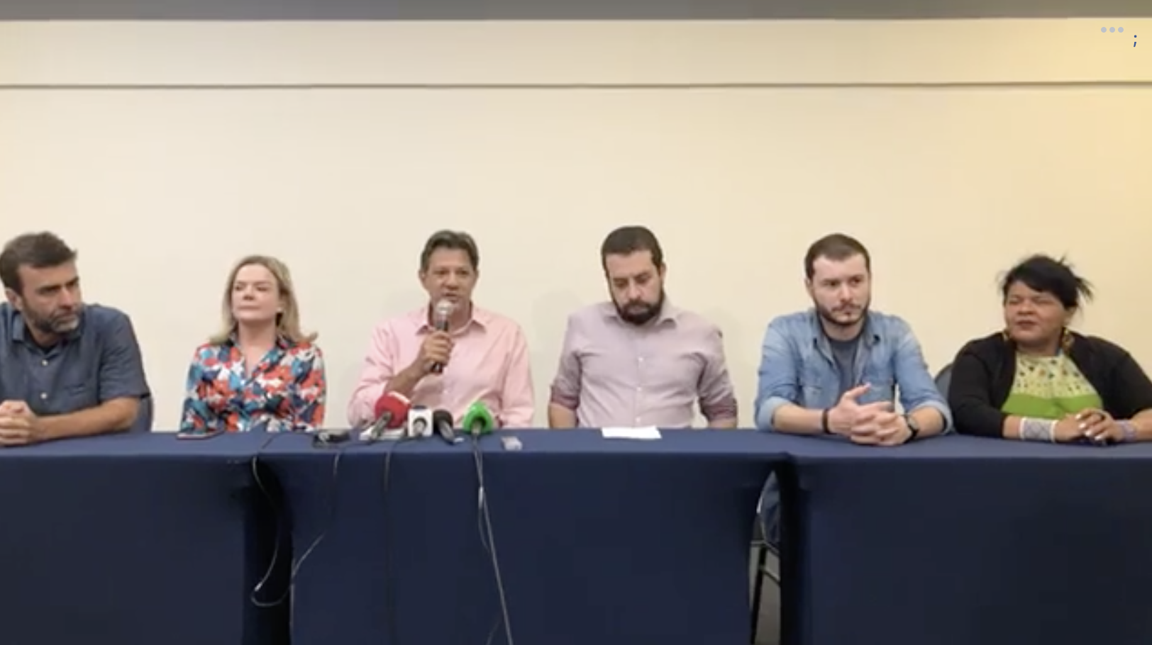 """Em apoio à luta """"contra o fascismo e o golpe"""", Psol entra na campanha de Haddad; veja o vídeo"""