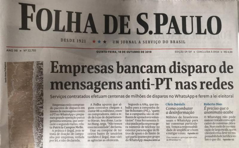 """Haddad aciona Polícia Federal e Justiça Eleitoral contra caixa dois digital de Bolsonaro: """"É crime"""""""