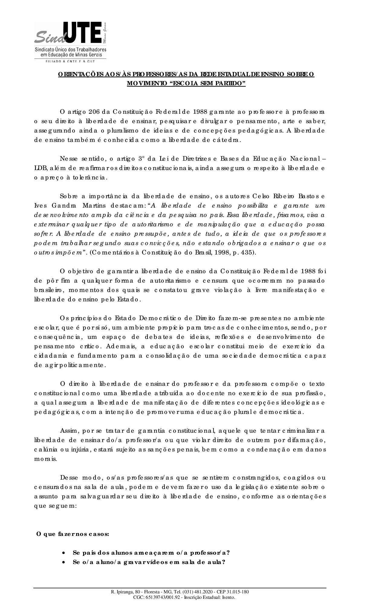 Beatriz Cerqueira desmascara mentiras espalhadas pelos defensores do Escola Sem Partido; veja
