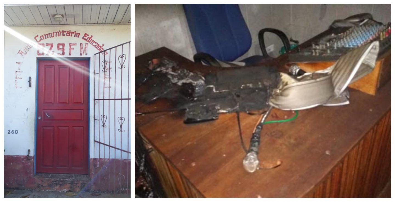 Marajó Notícias: Vândalos incendeiam rádio comunitária que democratiza a informação