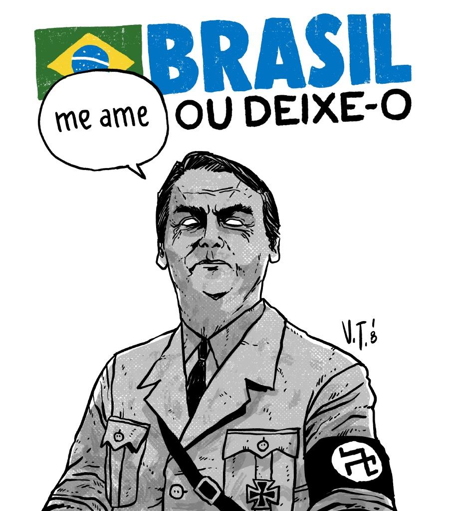 """Mario Sergio Conti: Bolsonaro se apresenta como militar patriota e o """"Brasil acima de todos""""; duas fraudes dignas de whatsapp"""