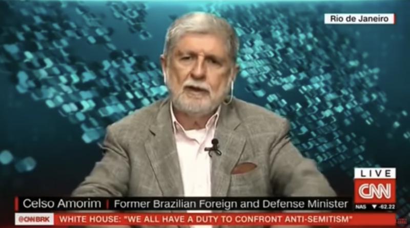 Fofoca de militar contra Celso Amorim veio depois de críticas do ex-chanceler à volta dos generais, na CNN; veja