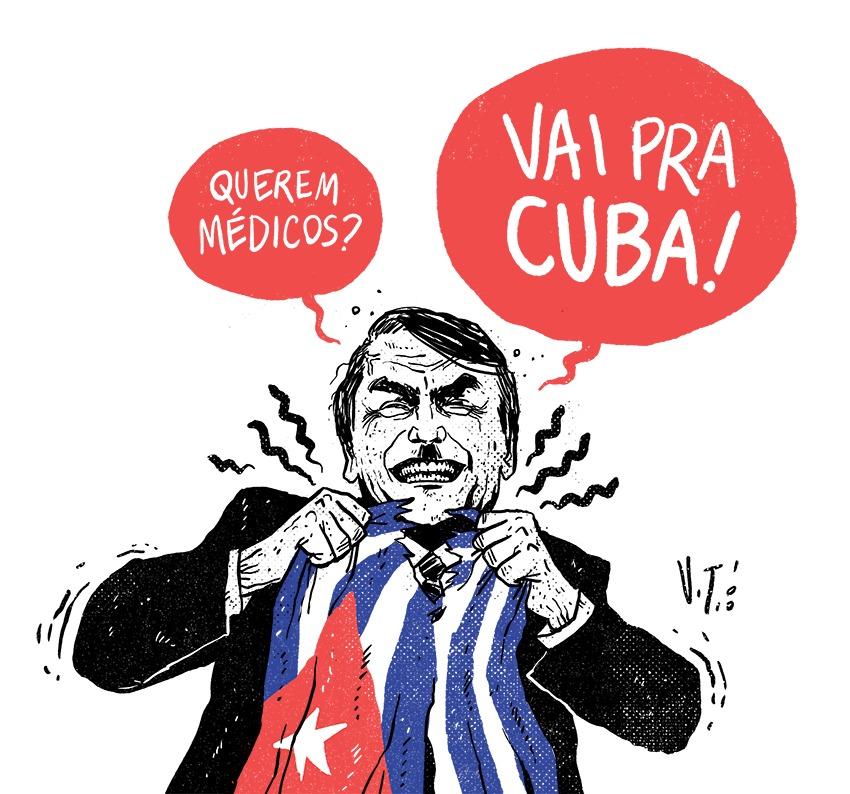 Thiago Silva, médico: Como Bolsonaro manipula e mente para enganar seus eleitores sobre os salários dos cubanos
