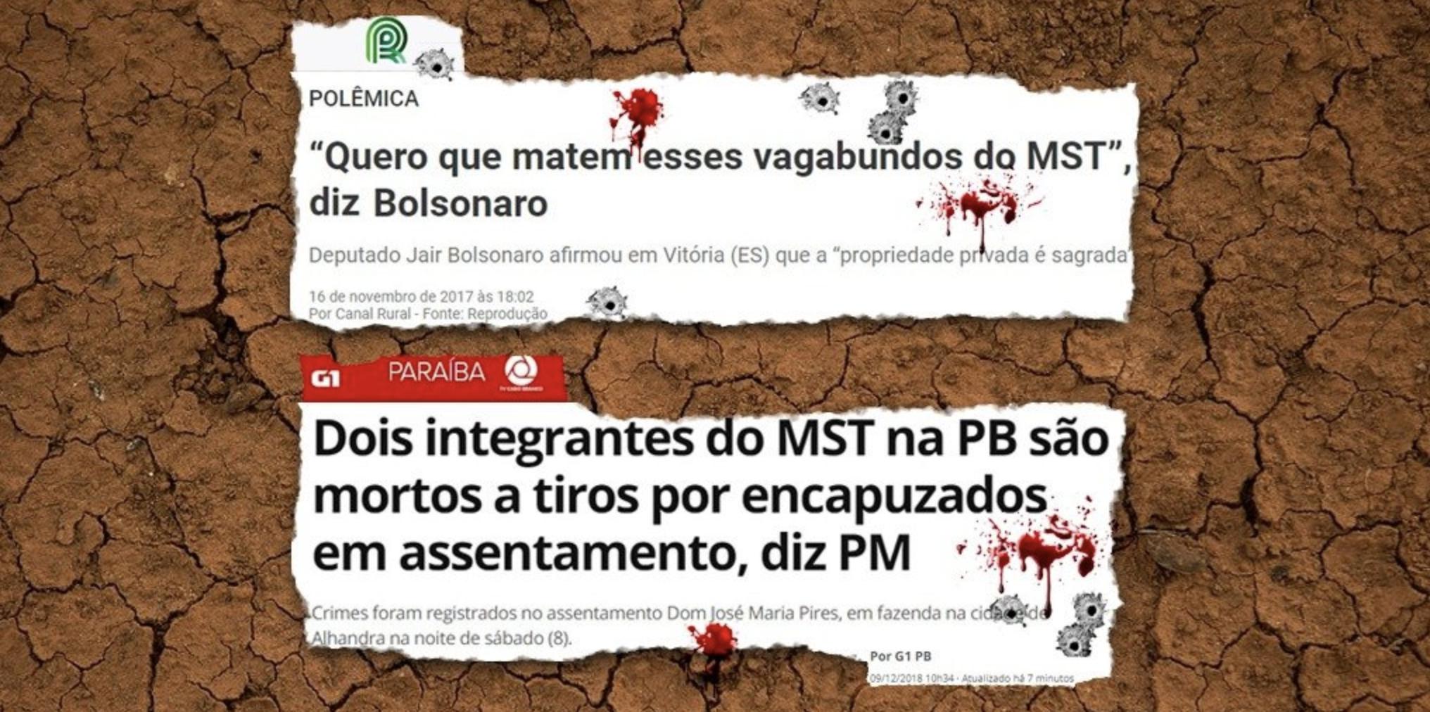 Capangas encapuzados fuzilam dois integrantes do MST na Paraíba