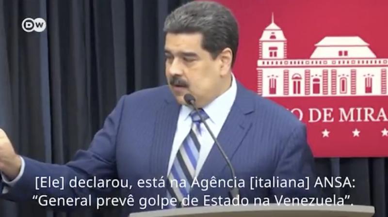 """Maduro diz que Bolton encomendou provocações à Venezuela e que Mourão é """"louco""""; veja vídeo"""