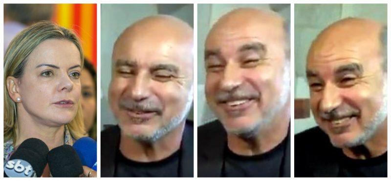 Gleisi: Após o Queiroz alegar falta de condição para depor até dia 28,  aparecer dia 26 no SBT, rindo,é escárnio. E, agora, MP?! veja a entrevista