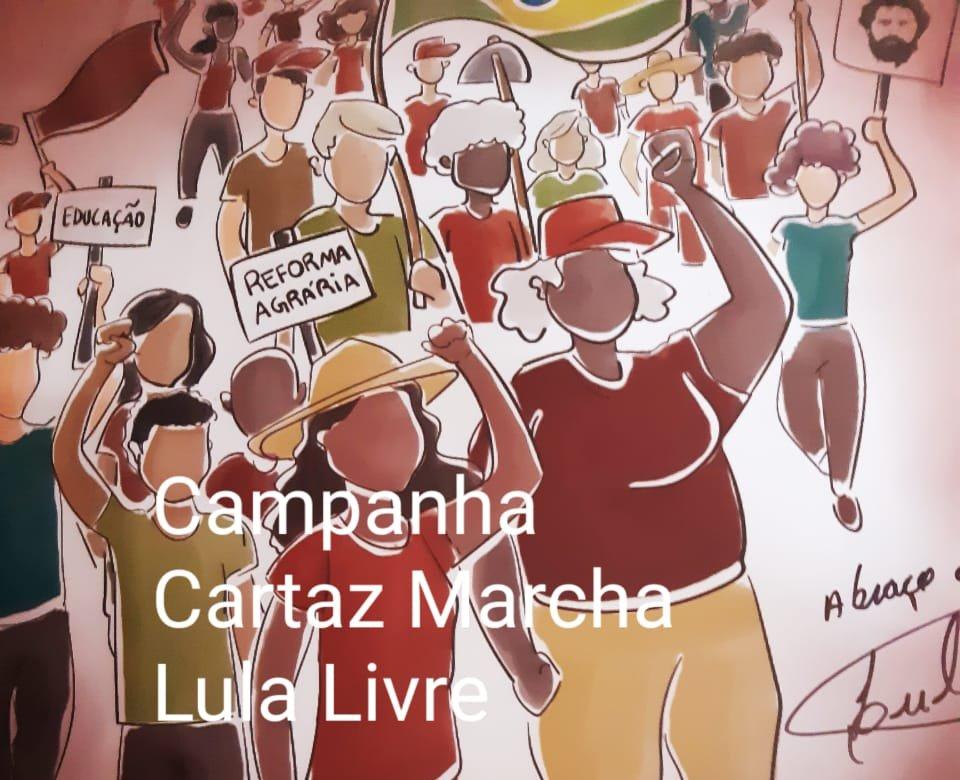Quer um cartaz da Marcha Lula Livre com assinatura do próprio Lula?