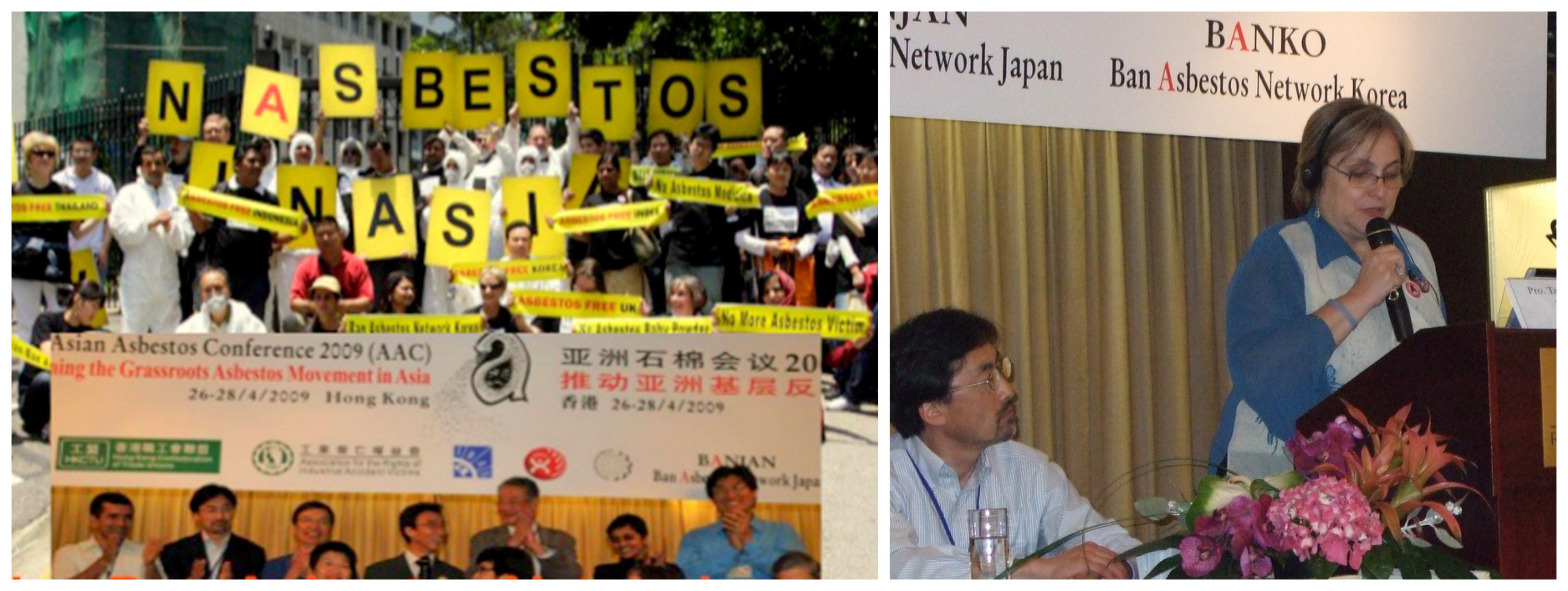Ativistas brasileiros e asiáticos condenam Eternit por manter exportação de amianto; Fernanda Giannasi culpa STF