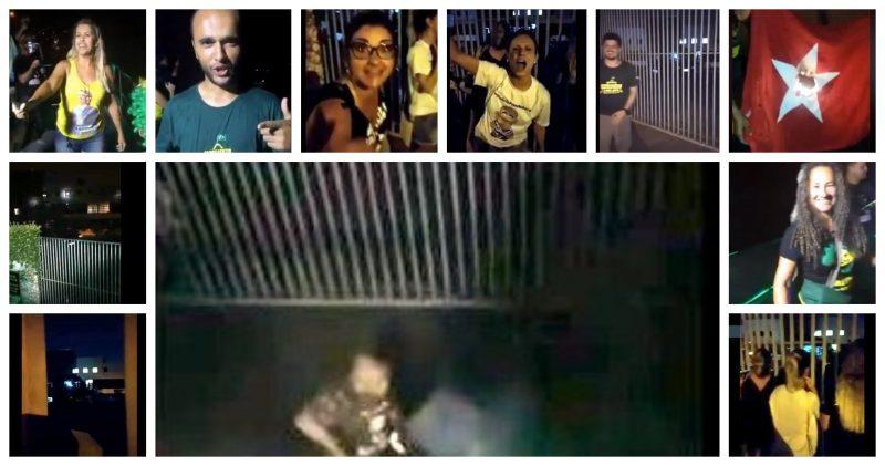 Enquanto Flávio e Queiroz sapateiam na Justiça, bolsomoros atacam Lula e dona Lindu na cara da PF; veja vídeos