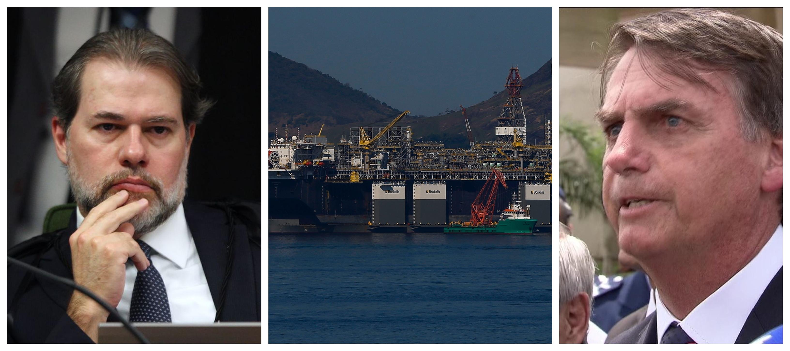 Governo Bolsonaro quer que Toffoli libere venda de campos de petróleo da Petrobrás sem licitação; PT ajuíza impugnação ao pedido