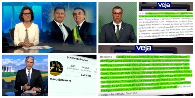 Jornal Nacional, Ato 7: Com a divulgação dos áudios, sem poupar nenhum detalhe, Globo manda recado; Bolsonaro, na presidência, não é protagonista