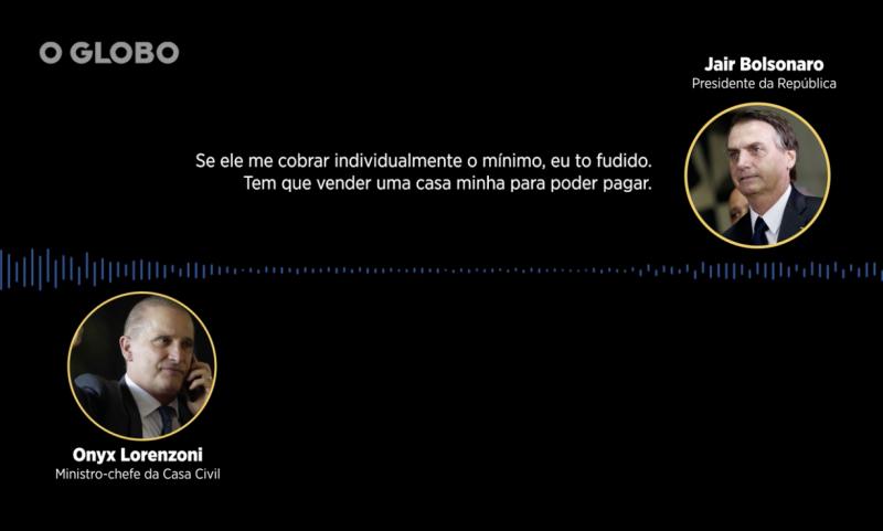"""Onyx liga """"por acidente"""" para O Globo, que ouve e grava conversa dele com Bolsonaro; Bebianno manda e Antagonista tira nota do ar"""