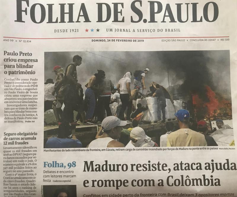 """Folha reproduz na capa a """"guerra psicológica"""" dos EUA contra a Venezuela; veja dois vídeos para entender como ela funciona"""