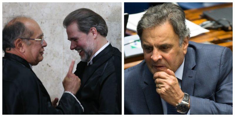 Carone: Gilmar e Toffoli querem evitar que inquérito contra Aécio vá para o Rio e Bretas julgue o deputado e família