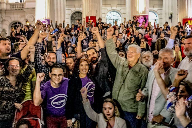 Reforma da Previdência: Ato contra reúne Requião, Boulos, Dr. Rosinha e Vanhoni; veja fotos