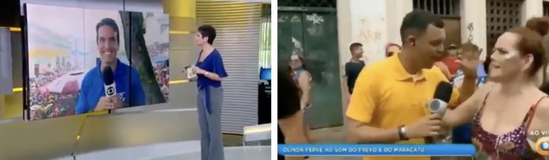 """Depois de escrachos em todo o Brasil, Olinda coloca """"Bolsonaro é o carai"""" nas telas da televisão; veja os flagrantes"""