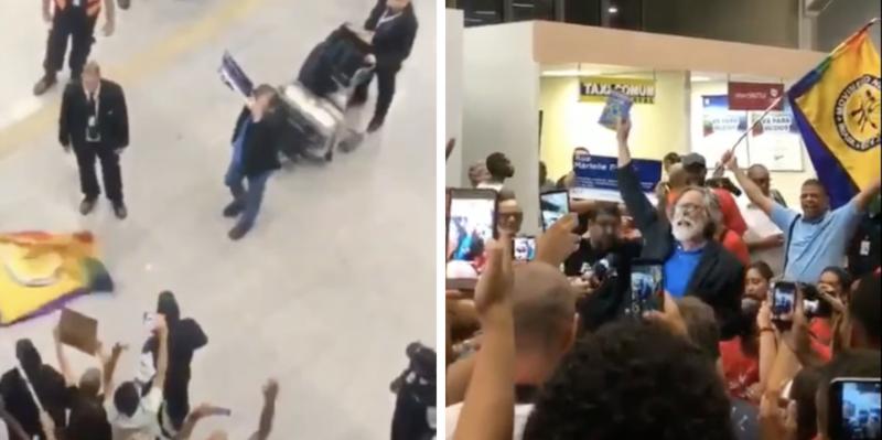 Já com oposição à esquerda e à direita, Zé de Abreu faz juramento como presidente autoproclamado; veja o vídeo