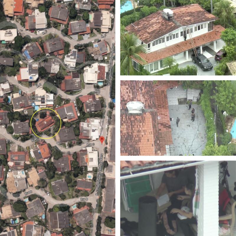 Ronnie Lessa, que mora na mesma rua de Bolsonaro, foi preso com três celulares em modo avião; vazamento antecipou ação policial