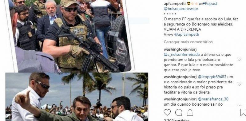PF que escoltou Lula no velório de Arthur fez a segurança de Bolsonaro na campanha