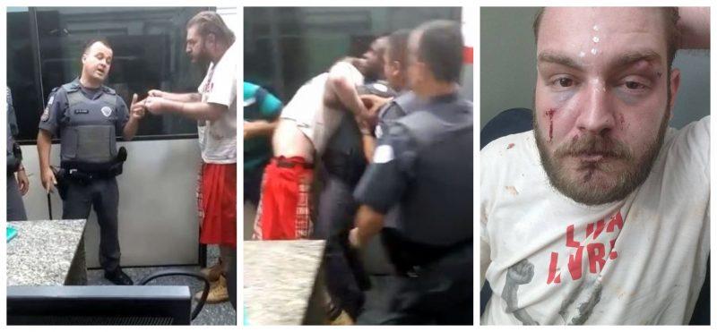 PM quebra braço de petista em delegacia e apoia agressores bolsominions; veja vídeo se tiver estômago