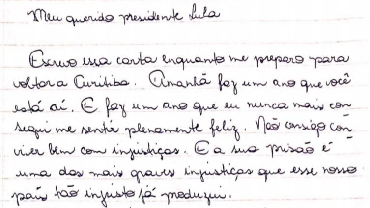 Cartas a Lula: 365 dias em depoimentos enviados para o cárcere