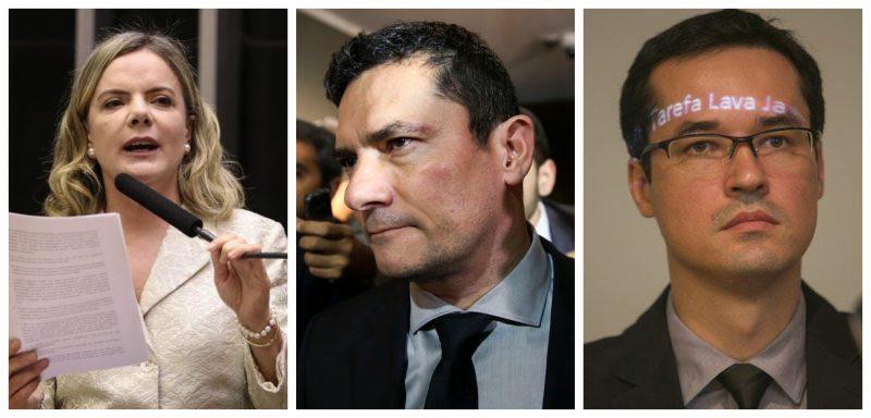 Gleisi acusa Lava Jato de corrupção, lavagem, formação de quadrilha e organização criminosa; Moro e Dallagnol deveriam estar presos e não Lula; veja vídeo