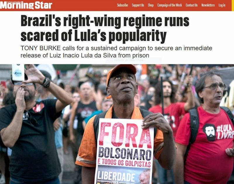 Jornal britânico denuncia: A prisão de Lula não é apenas uma farsa da justiça, é uma farsa da democracia