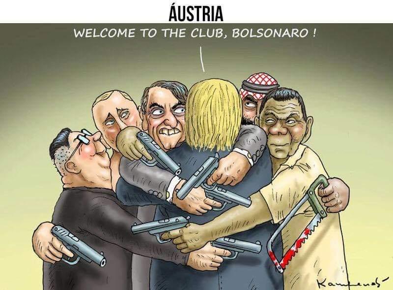 Brasil da era Bolsonaro, segundo chargistas de vários países ...