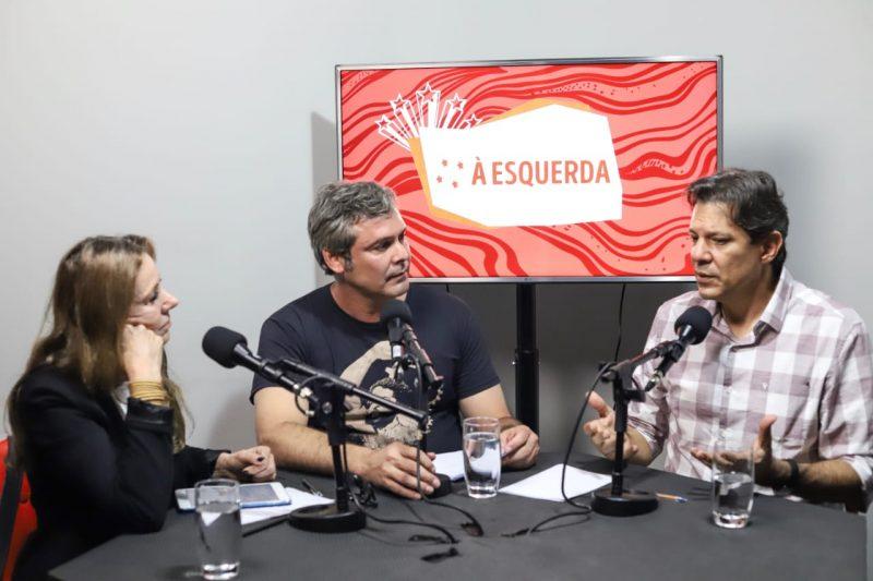 Estreia o canal À Esquerda: Lindbergh  e Vanessa  entrevistam  Haddad; assista