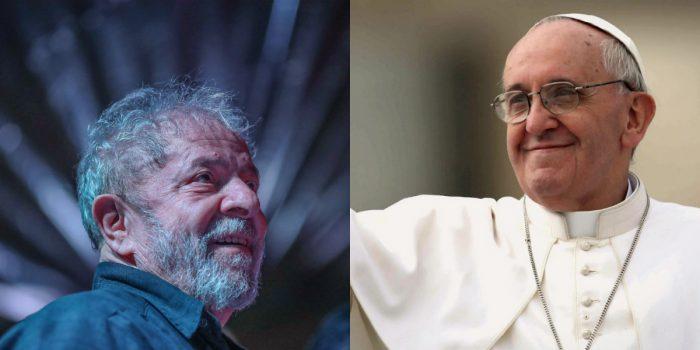 """Papa e Lula trocam cartas: """"O bem vencerá o mal, a verdade vencerá a mentira""""; leia a íntegra"""