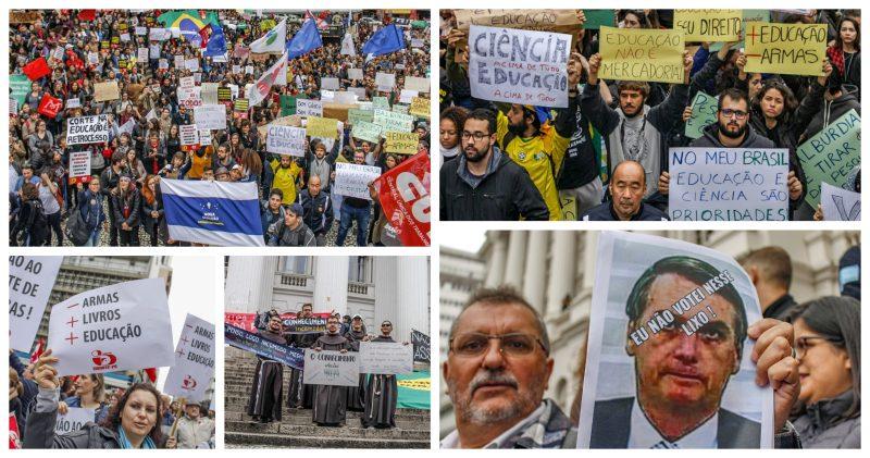 Em Curitiba, mais de 10 mil pessoas em defesa da educação pública; veja como foi