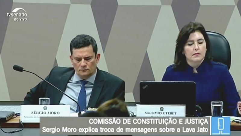 Moro nem olhou para Humberto Costa quando acusado de cassar o voto de milhões de brasileiros; veja