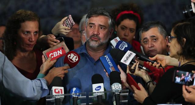 Líderes do PT, PCdoB e Psol pedem renúncia de Moro e anunciam obstrução total na Câmara; vídeo