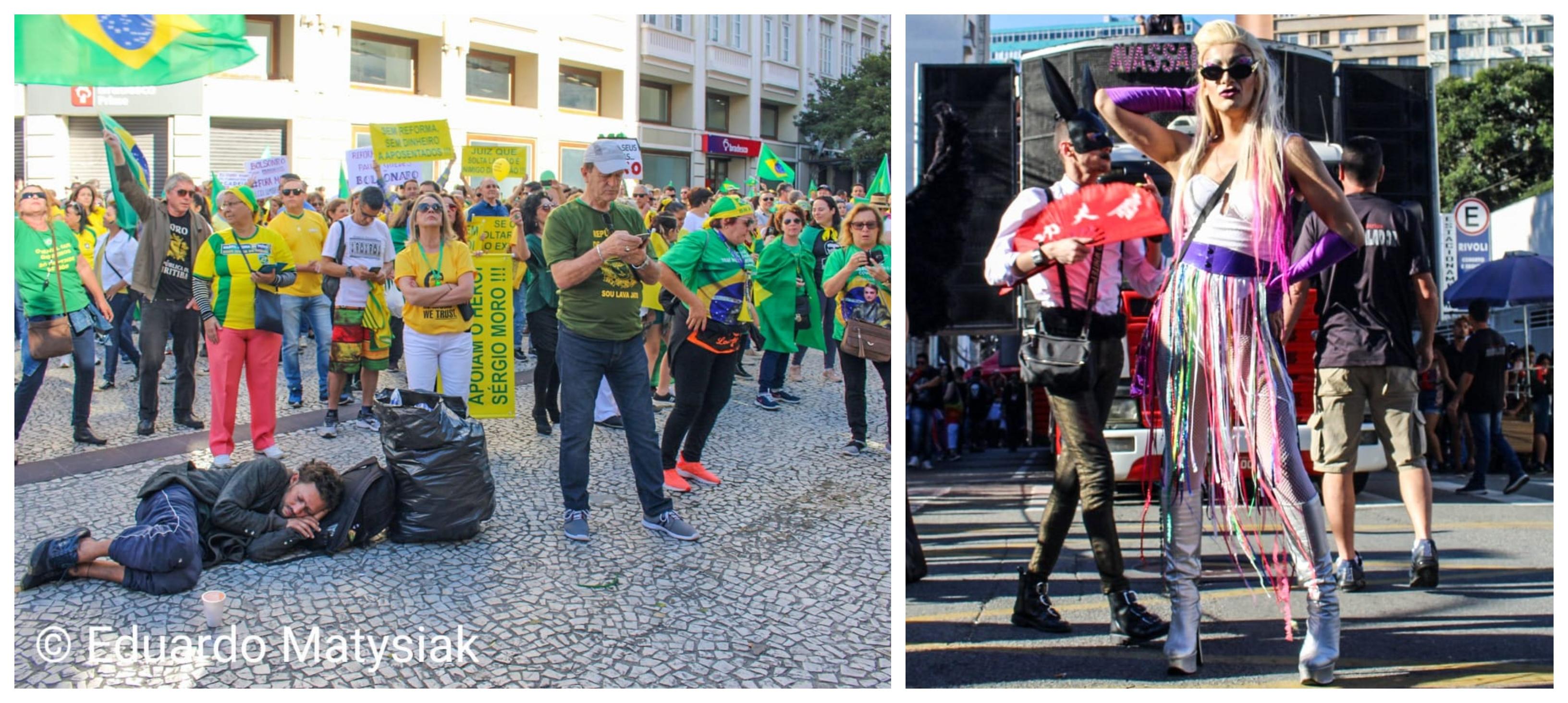 Na capital da Lava Jato, Marcha da Diversidade teve muito mais gente do que ato em apoio a Moro e Deltan; fotos
