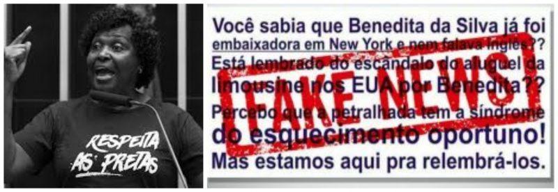 """Benedita da Silva desmascara fake news: """"Tão sem pé nem cabeça que me assustei com a insanidade dessa gente"""""""