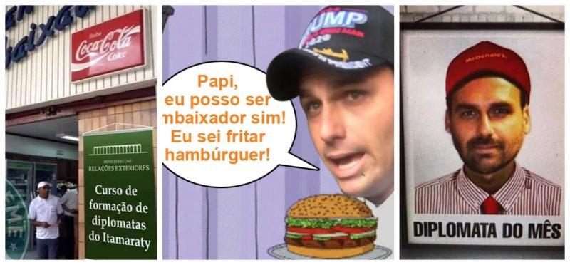 Marcelo Zero: Mais que fritar hambúrguer, o filho do capitão poderá fritar o Brasil