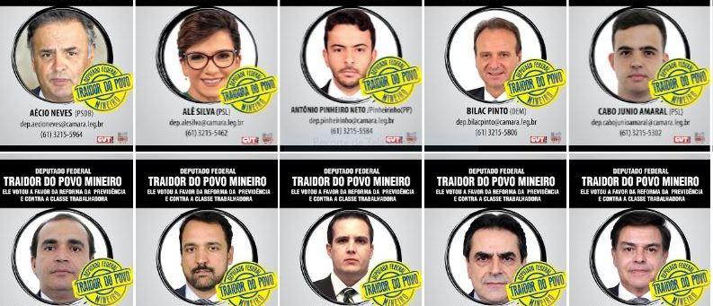 Beatriz Cerqueira repudia 'postura vergonhosa' dos 39 deputados mineiros que votaram a favor da reforma da previdência; veja vídeo e fotos